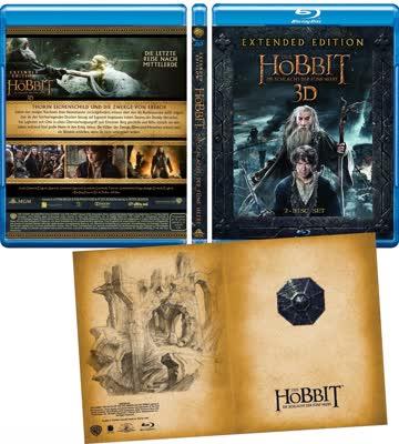 Blu Ray Film Der Hobbit Schlacht Der Fünf Heere Extended Günstig