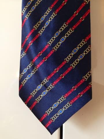 Seidenkrawatte Luca Franzini Tie Rack, dunkelblau mit Muster