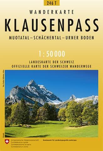 246T Klausenpass Wanderkarte: Muotatal - Schächental - Urner Boden
