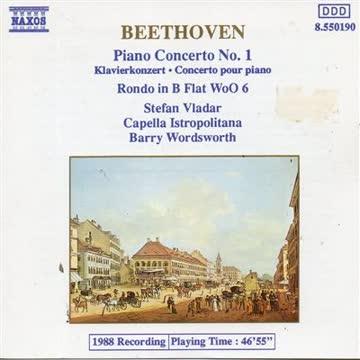 VLADAR STEFAN (piano) - Beethoven Piano Concerto No. 1 In C, Op. 15 - Audio CD