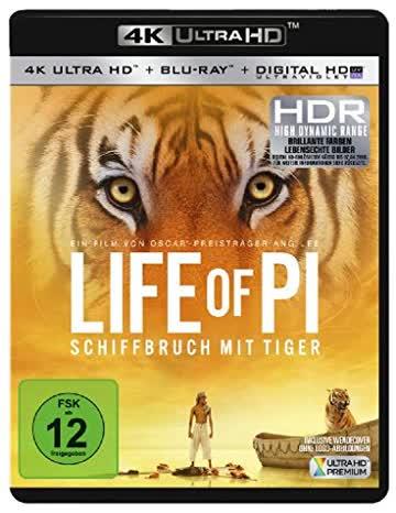 Life of Pi - Schiffbruch mit Tiger (4K Ultra HD (+ Blu-ray)