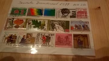 Deutsche Bundespost 1979 14 Werte