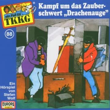 """Ein Fall für TKKG, Folge 088 - Kampf um das Zauberschwert """"Drachenauge"""""""