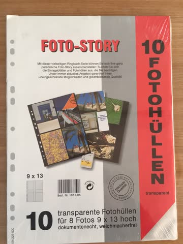 10 Fotohüllen (transparent)
