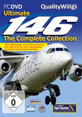 Flight Simulator X - Quality Wings 146 - The Complete Collection (Add - On) - [PC]