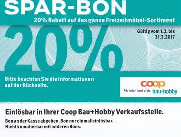 Coop Bauhobby Spar Bon 20 Rabatt Auf Freizeitmöbel Günstig