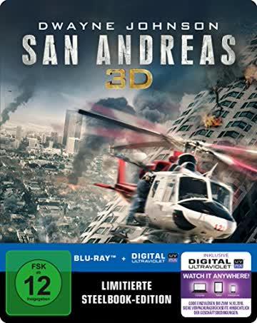 San Andreas (Steelbook) (exklusiv bei Amazon.de) [3D Blu-ray] [Limited Edition]
