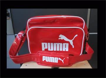 rote puma tasche lack umh ngetasche mit weiss seitenfach g nstig gebraucht kaufen bei. Black Bedroom Furniture Sets. Home Design Ideas