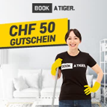 Book a Tiger - Gutschein für Putzfrau 50.- Fr.