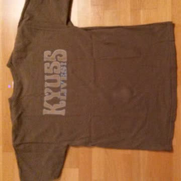 "Grünes T-Shirt ""Kyuss lives!"" Grösse L"