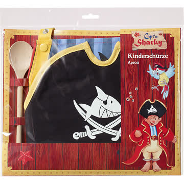 Capt'n Sharky Kinderschürze und Backmütze Set OVP
