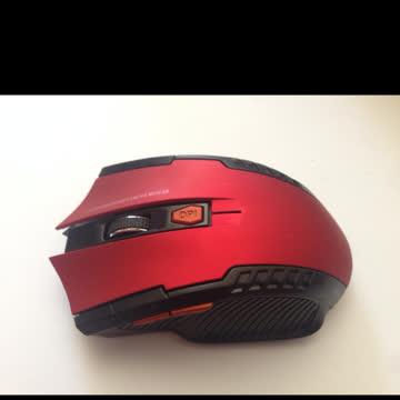 Neue kabellose Computermaus rot-schwarz
