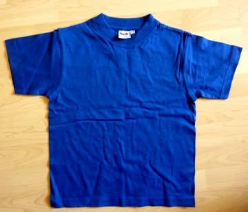 T-Shirt dunkel blau - Gr 122/ 128