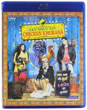 Luv Shuv Tey Chicken Khurana Hindi Blu Ray with English Subtitles fully boxed and Sealed Hindi Comedy movie