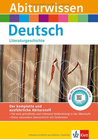 Klett Abiturwissen Deutsch - Literaturgeschichte: für Oberstufe und Abitur, mit Lern-Video online