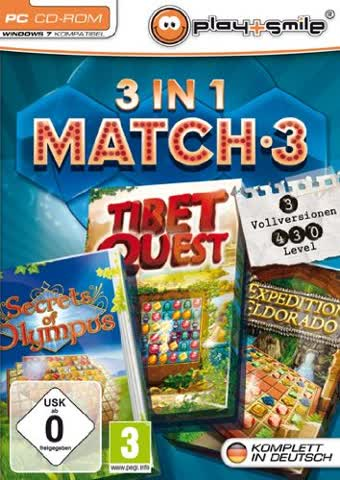 3 in 1 Match 3: Secrets of Olympus / Tibet Quest / Expedition Eldorado