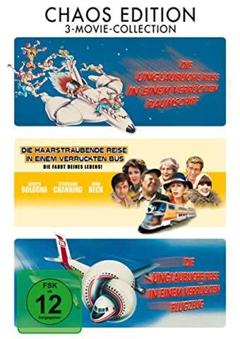 Die unglaubliche Reise in einem verrückten Raumschiff - Die unglaubliche Reise in einem verrückten Flugzeug - Die haarsträubende Reise in einem verrückten Bus - 3 DVD Box