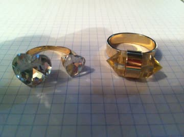 2 Stk, Fingerringe Modeschmuck