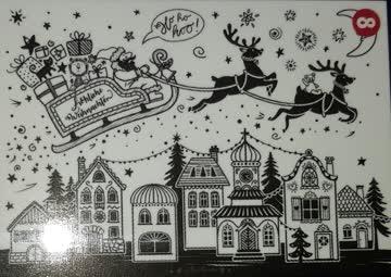 Weihnachten Fensterbild Vorlage Bine Brändle Für Kreidestift Günstig
