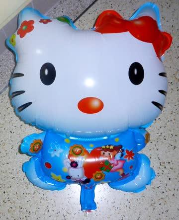 Folienballon Hello Kitty blau 60cm NEU