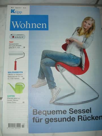 Ktipp Wohnen: Bequeme Sessel für gesunde Rücken, Nr. 3/08.17