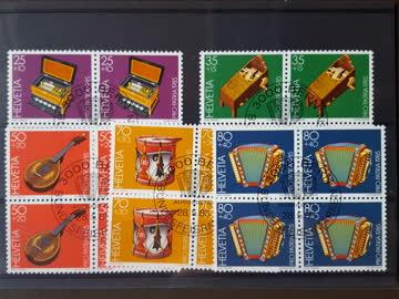 Lot 4er Blocks mit Ersttagstempel (1974,83,84,85)