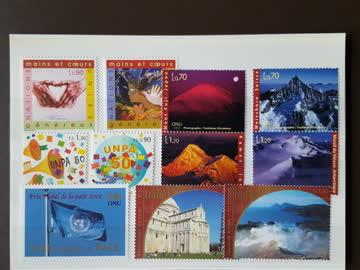 UNO Genf - super Dublettenlot 1999 - 2003 (postfrisch)