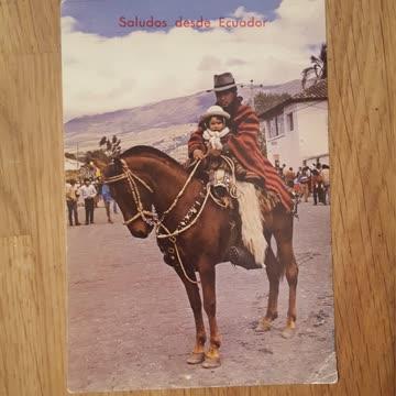 Postkarte Saludos desde Ecuador
