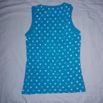 Shirt Türkis mit Herzchen, Grösse M