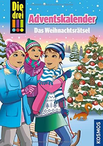 Die drei !!!, Das Weihnachtsrätsel: Adventskalenderbuch mit Extra: Geschenkpapier
