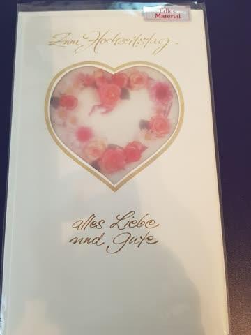 """Karte mit Couvert """"zum Hochzeitstag"""""""