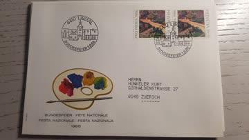 Bundesfeierbeleg 4410 Liestal 1.8.1986