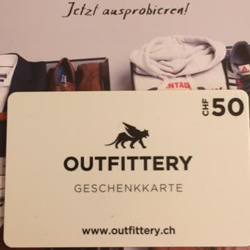 Outfittery Geschenkkarte im Wert von 50.-