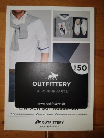 Outfittery Geschenkkarte 50.-