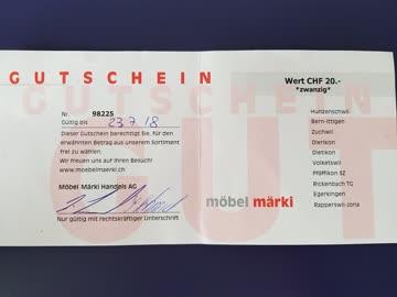Gutschein Von Möbel Märki Wert 2000 Günstig Gebraucht Kaufen Bei