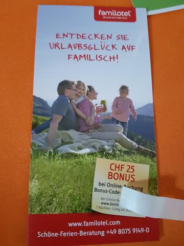 Familotel Gutschein 25.-