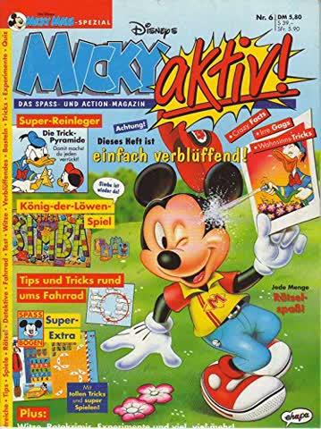 Walt Disneys Micky Maus-Spezial: Micky aktiv. Das Spass- und Action-Magazin. Heft 6