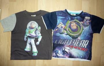 2 T-Shirts mit Buz Lightyear - Gr.110/ 116