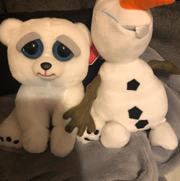Plüsch Olaf und böser eisbär