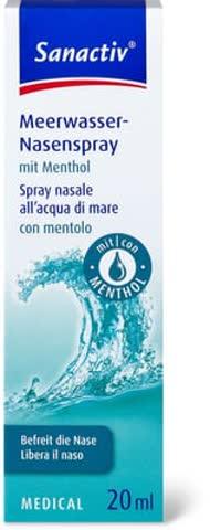 Meerwasser-Nasenspray mit Menthol