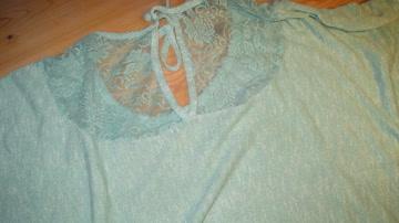 """Shirt türkise, mit Silber Strass Steinchen """"Love"""""""
