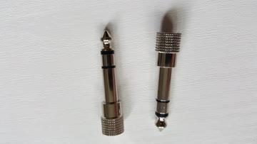 2 NEUE Jack Kopfhörer und Mic Zwischenstecker 3.5 - 6.3 mm