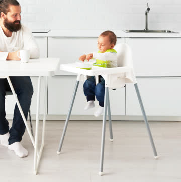 Kinderhochstuhl mit Tablett, Babystuhl, Kinderstuhl