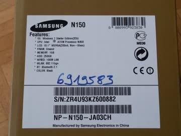 Samsung Netbook N150 mit Windows 10 Home