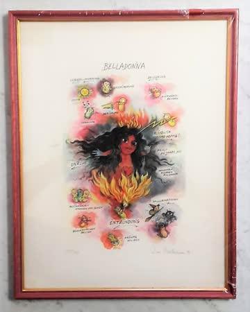 """""""BELLADONNA"""", Original-Lithografie von Sven Hartmann"""