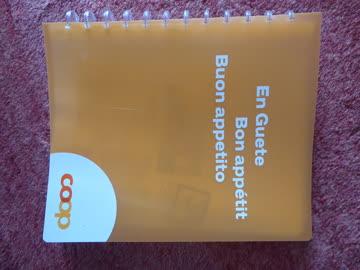 Rezeptsammelbuch gross, COOP, transparent/orange