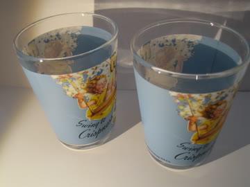 """zwei kleine gläser mit """"rice krispies""""-aufdruck"""