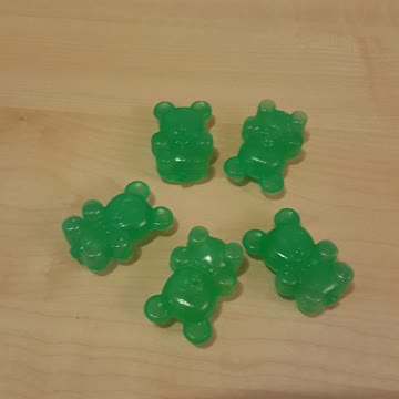 5 grüne Eisbärli fürs Frostfach