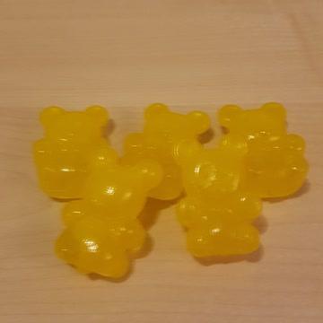 5 gelbe Eisbärli fürs Frostfach