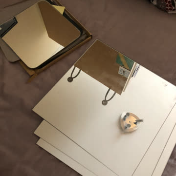 Spiegelplatten zum Ankleben